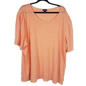a.n.a. T Shirt Coral Flowy Sleeve Heathered